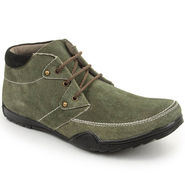 Bacca Bucci Suede Leather Olive Casual Shoes -Bbmb3043G