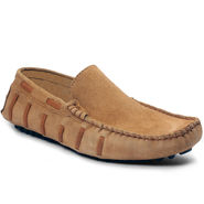 Bacca Bucci Suede Leather Tan Loafers -Bbmc4059D