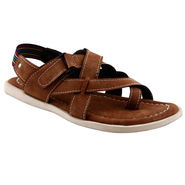 Bacca Bucci Leather  Sandal  Bbme6009C -brown