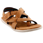 Bacca Bucci Leather  Sandal  Bbme6009D -Tan