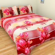 Mangalam Polycotton double Bedsheet  with 2 pillow covers-BD-38