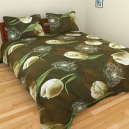Mangalam Polycotton double Bedsheet  with 2 pillow covers-BD-8