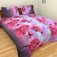 Mangalam Polycotton double Bedsheet  with 2 pillow covers-BD-9