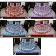 Set of 5 Jaipuri Printed Double Bedsheet With 10 Pillow Covers-BDEVCO1