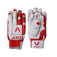 BAS Vampire  (Size-L) Pro Batting Glove-White And Red - BG59