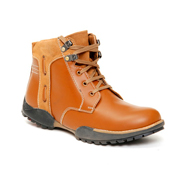 Bacca bucci Leather Boots - Tan-5544