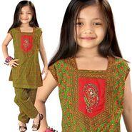 Little India Bagru Designer Sanganeri Cotton Salwar Suit - DLI3GED104B
