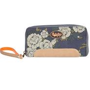 Be For Bag Canvas Blue Wallet -Beckett