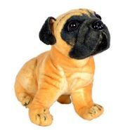 Beige Pug Dog Stuffed Soft Plush Toy