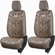 Branded Printed Car Seat Cover for Tata Manza - Beige