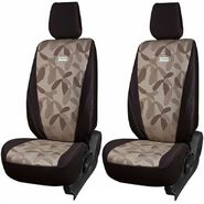 Branded Printed Car Seat Cover for Fiat Linea - Brown