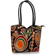 Arpera Genuine Leather Handbag C11478-1A -Black