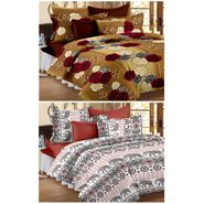 Set of 2 Double Bedsheet with 4 Pillow Cover-1203-1260