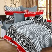 Storyathome 100% Cotton Double Bedsheet With 2 Pillow Cover-CN1253