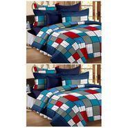 Storyathome 100% Cotton Double Bedsheet & 1 Single Bedsheet With 3 Pillow Cover -CN_1206-FY1409