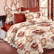 Bedspun 100% Cotton Double Bedsheet With 2 Pillow Covers-CR1402