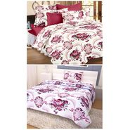 Storyathome 100% Cotton Double Bedsheet & 1 Single Bedsheet With 3 Pillow Cover -CR_1401-HY1406