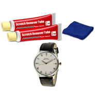 Car Scratch Remover Kit + Diamond Studded Frank Bellucci Watch