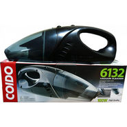 Coido 6132 Car Vacuum Cleaner for Dry & Wet Dirt (Black)