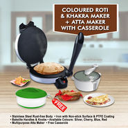 Coloured Roti and Khakra Maker + Atta Maker with Free Casserole