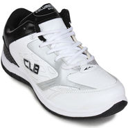 Columbus Mesh White & Black Sports Shoes -nsds66