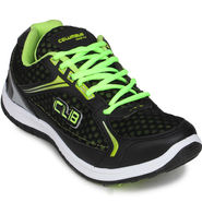 Columbus Black & Green Sports Shoe C15