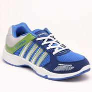 Columbus PU Sports Shoes - Blue & Green-5627