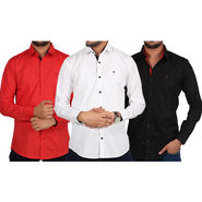 Pack of 3 Yellow Tree Cotton Shirts For Men_YtsC03