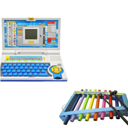 Combo of Qunxing 20 Activity English Learner Laptop + Musical Xylophone