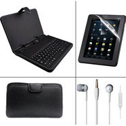 Combo Of Vizio Keyboard + Soft Case + 7 inch Tablet screen protector + Earphone