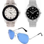 Combo of Dezine 2 Analog Watches + 1 Aviator Sunglasses_DZ-CMB103