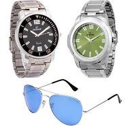 Combo of Dezine 2 Analog Watches + 1 Aviator Sunglasses_DZ-CMB107