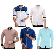 Pack of 5 Full Sleeves Casual Shirts For Men_Gkcs02
