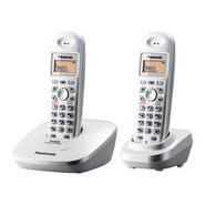 Panasonic KX-TG3612BX Dual Cordless Phone - White
