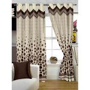 Story @ Home Brown Jacquard 1 pc Door curtain-7 feet-DBR4017
