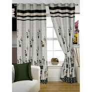 Story @ Home Grey Jacquard 1 pc Door curtain-7 feet-DBR4021