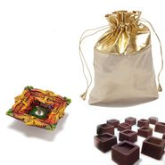 Golden Leatherite Chocolate Pouch_DCHO11