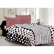 Valtellina 100% Cotton Double Bedsheet with 2 Pillow Cover-6006-B
