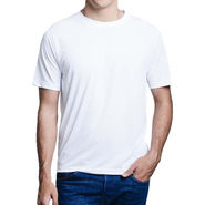 Oh Fish Plain Round Neck Tshirt_Df1wht - White