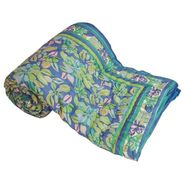 Jaipuri Print Cotton Double Bed Razai Quilt-DLI4DRZ303