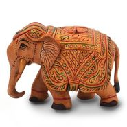 Little India Wooden Hand Carved Painted Elephant Handicraft 153