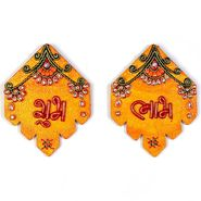 Little India Kundan Work Handmade Shubh Labh Door Hangings 277