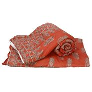 Set of 2 Jaipuri Print Cotton Single Bed Razai AC Quilt-DLI4SRZ1222