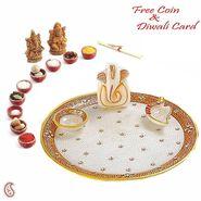 Aapno Rajasthan Marvel In Marble -Pooja Thali-037
