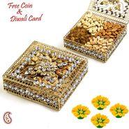 Aapno Rajasthan Floral Design Jaal Pattern Dry fruit Box Hamper