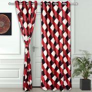 Story @ Home Maroon 2 pc Door curtain-7 feet-DNR3011