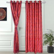 Story @ Home Maroon 2 pc Door curtain-7 feet-DNR3023