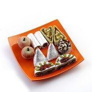 Assorted Kajoo Sweets with Free Laxmi Ganesh Coin_DRM1424