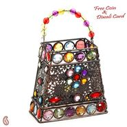 Hand Purse Design Multi Color Wrought Iron Tea Light Holder