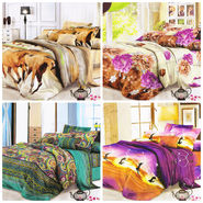 Set of 4 Dekor World 3D Multi Printed BedSheet With 8 Pillow Covers-DWBSCB-012
